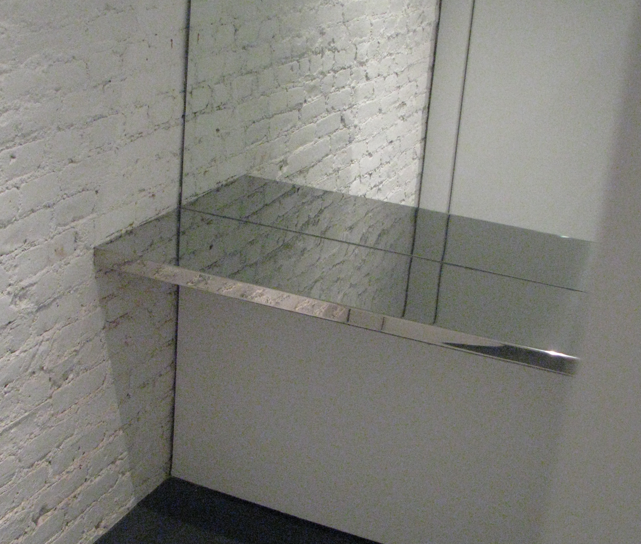Mirror Polished Stainless Steel Dressing Room Shelf