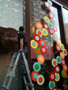 Sprinkles Custom Metal Facade